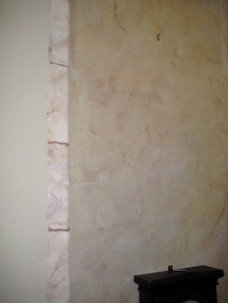 Close up showing wall texture