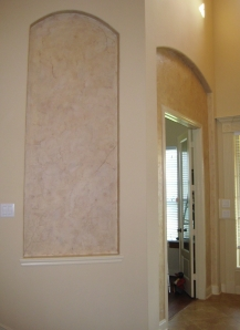 Here it is BEFORE the faux stone edge.